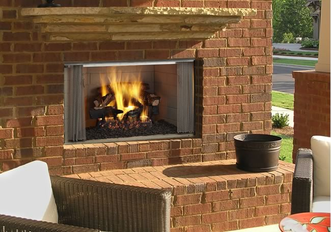 "Villawood 36"" Outdoor Wood Burning Fireplace"
