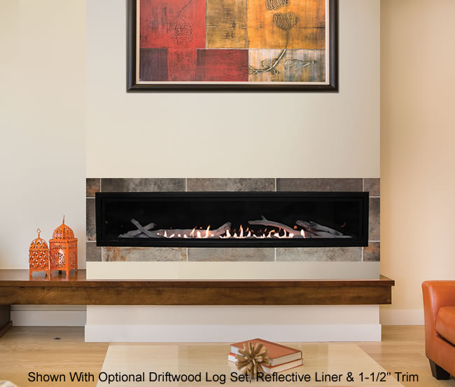 Boulevard 72 Inch Vent Free Linear Fireplace
