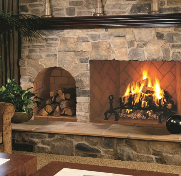 24 Inch Arched Real Masonry Indoor Outdoor Wood Nook By Fmi Fine 39 S Gas