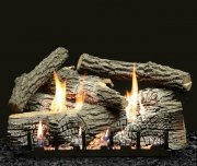 "Empire Super Stacked Wildwood 24"" Electronic Ignition Vent Free Logs"