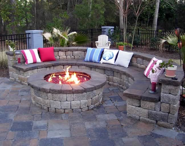 Large 54 Inch Round Outdoor Gas Fire Pit | Fine's Gas