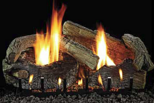 White Mountain Stacked Aged Oak 18 Inch Vent Free Gas Log