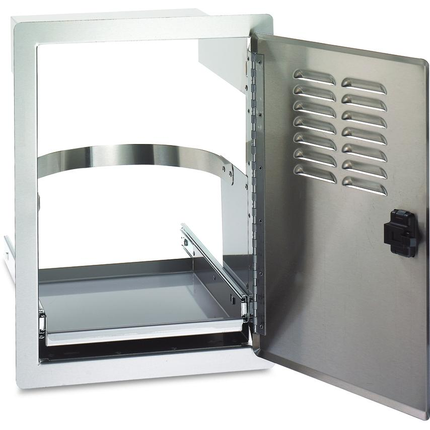 Fire Magic Grill Door With Louvers And Pull Tray For