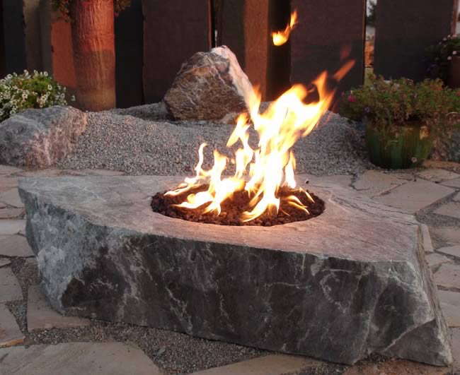 Stainless Steel 12 Inch Gas Fire Pit Ring Kit