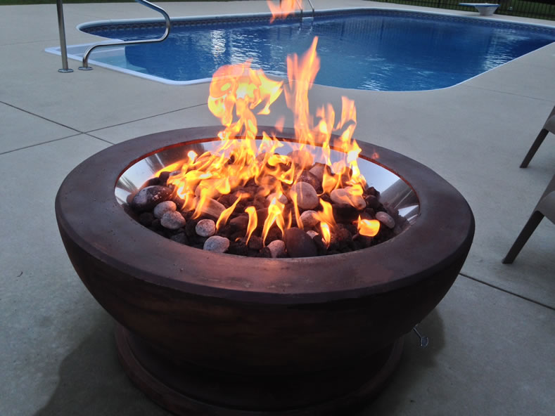 ... 18 Inch Stainless Steel Gas Fire Pit Ring Kit ... - Stainless Steel 18 Inch Gas Fire Pit Ring Kit