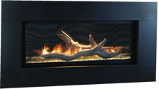 Textured Black Face for Artisan Fireplace