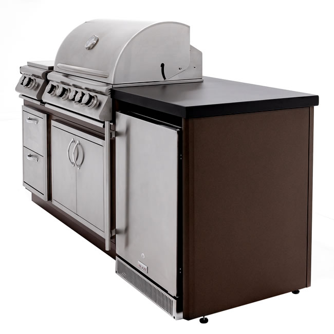 This Heavy Duty Galvanized Steel Framed Grill Island: Blaze Grills Outdoor Kitchen Island Package