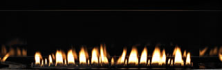 Boulevard Reflective Black Fireplace Liner