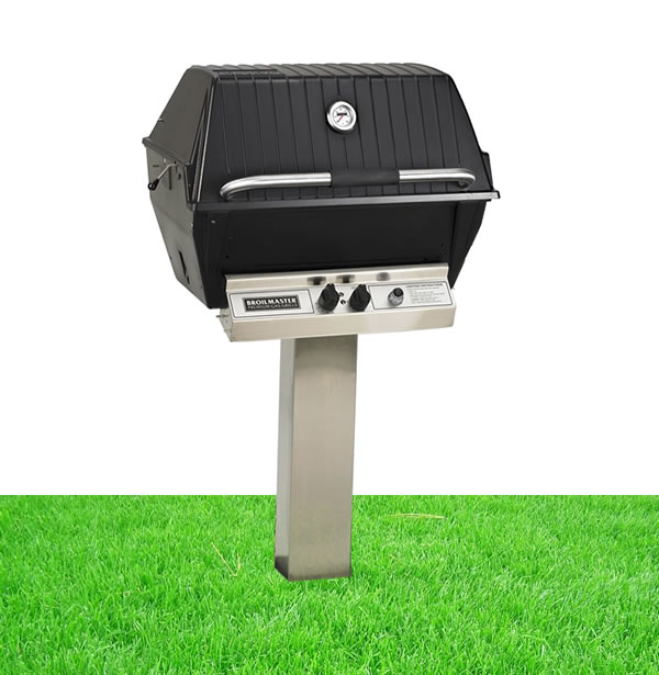 Broilmaster P4x Grill With In Ground Post Complete Fine