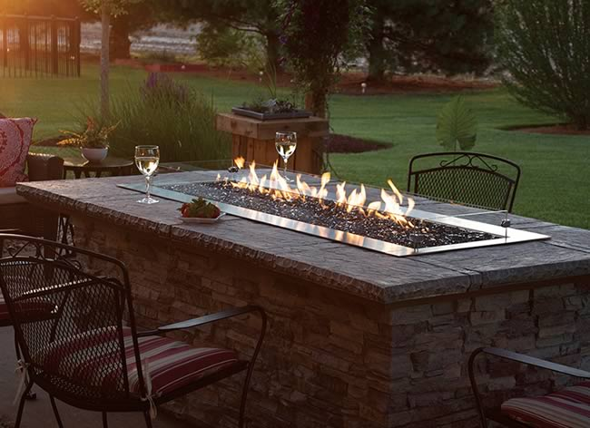 Carol Rose Outdoor Linear Fire Pit Fine S Gas