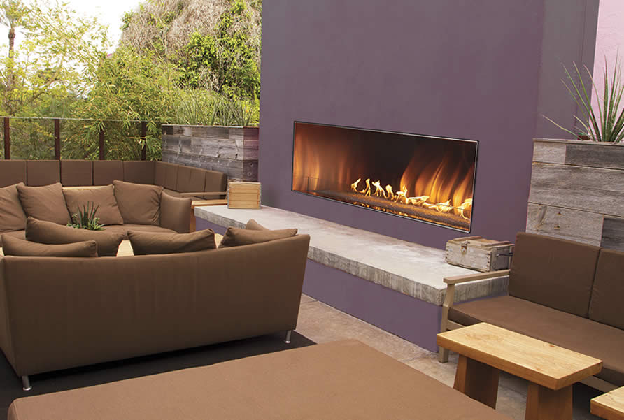 Linear Gas Fireplace >> Carol Rose 48 Outdoor Linear Fireplace