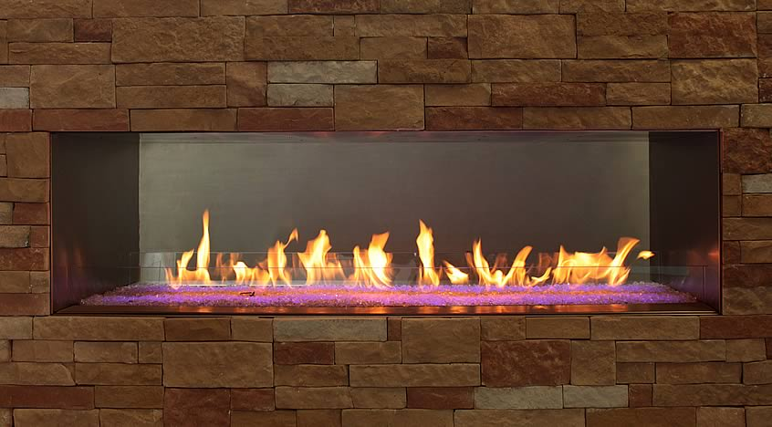 "Carol Rose 60"" Outdoor Linear See-Through Fireplace 