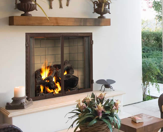 42 Quot Castlewood Outdoor Wood Burning Fireplace Fine S Gas