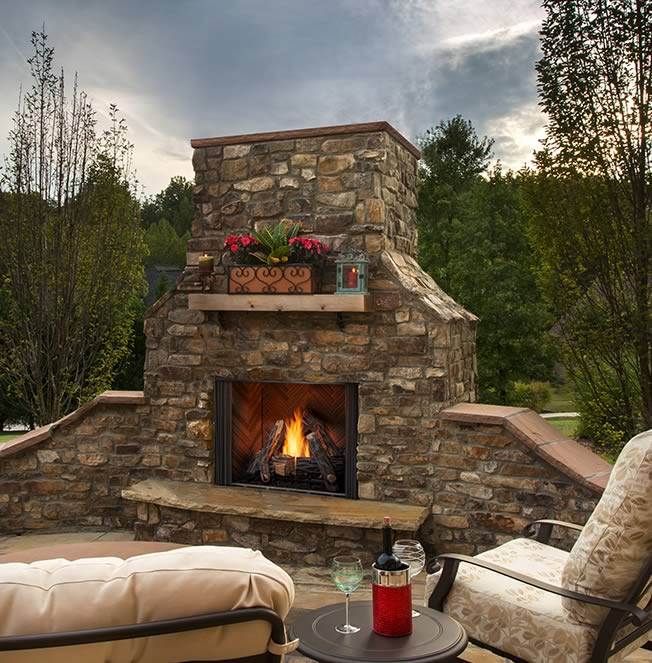Courtyard Outdoor Fireplace Fine S Gas