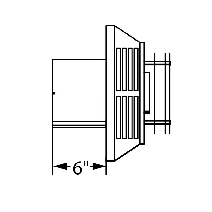 Horizontal Termination Cap For 4 X 6 5 8 Direct Vent Pipe