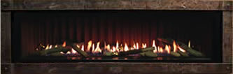 Boulevard Fireplace With Forged Iron Trim