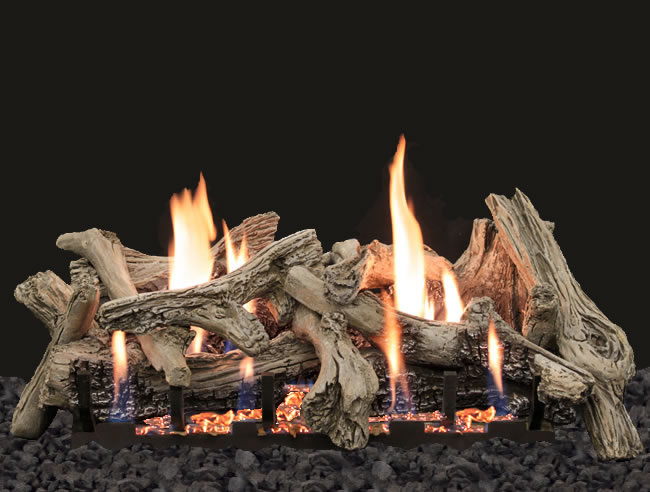 Empire Driftwood 24 Variable Remote Vent Free Gas Logs