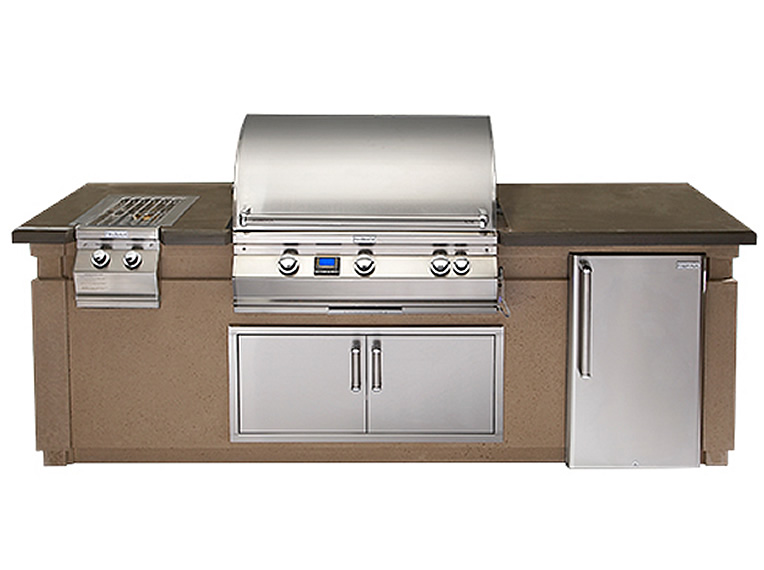 Fire Magic Aurora Grill & Outdoor Kitchen Island Package
