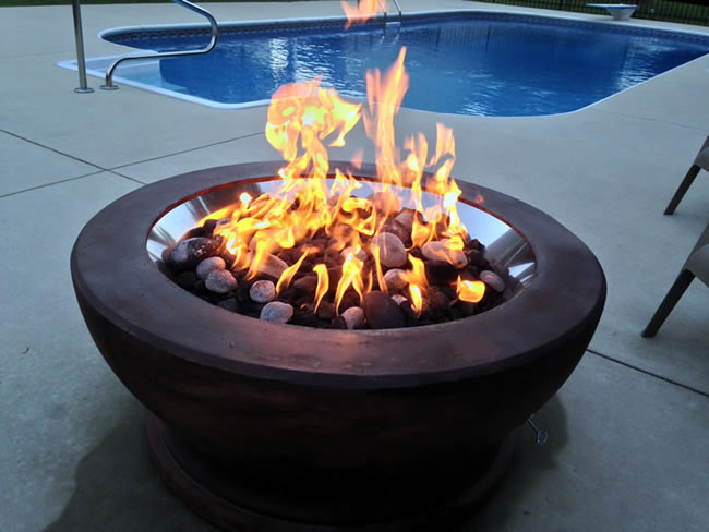 Deluxe 19 Inch Fire Pit Kit With Electronic Ignition 90 000 Btu Fine S Gas