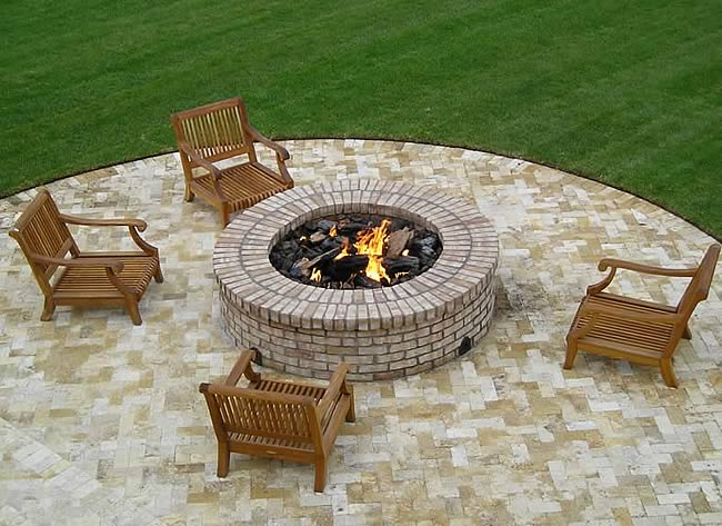 24 Inch Round Gas Fire Pit Insert With Flat Pan Fine S Gas