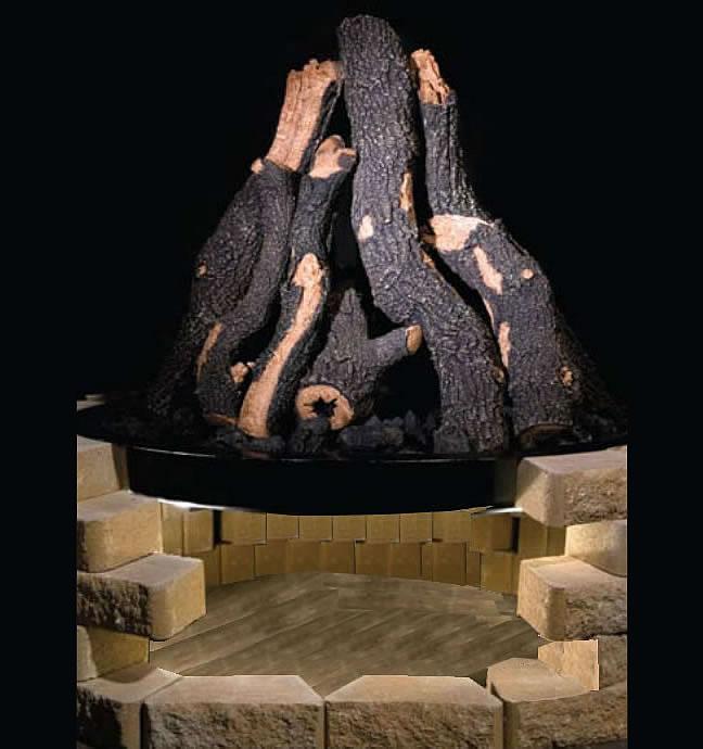 Terrific 24 Inch Golden Blount Grand Fire Pit Kit Download Free Architecture Designs Salvmadebymaigaardcom