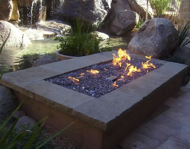 ... Battery Powered Ignition Rectangle Gas Fire Pit Kits ... - Rectangle Fire Pit Kits With Battery Powered Ignition Fine's Gas