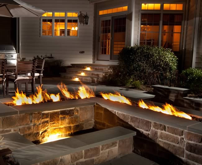 Trough Style Linear Gas Fire Pit 96 Inch Fine S Gas