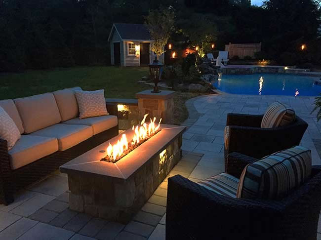 60 Rectangular Pre Fab Unfinished Gas Fire Pit Fine S Gas