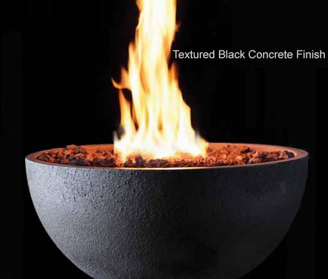 Decorative Concrete Bowl Outdoor Gas Fire Pit Fine S Gas