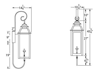 Legendary Lighting Vulcan II Wall Mount Gas Light