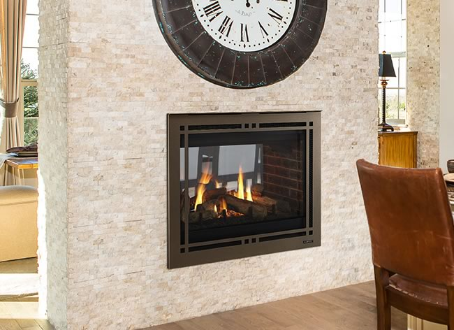 Pearl Ii Direct Vent See Thru Fireplace By Majestic Fine