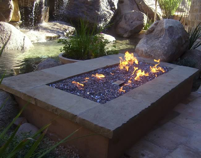 Match Lit Rectangle Gas Fire Pit Kits Fine S Gas