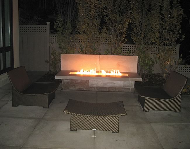Match Lit Rectangle Gas Fire Pit Kits Fine S Gas