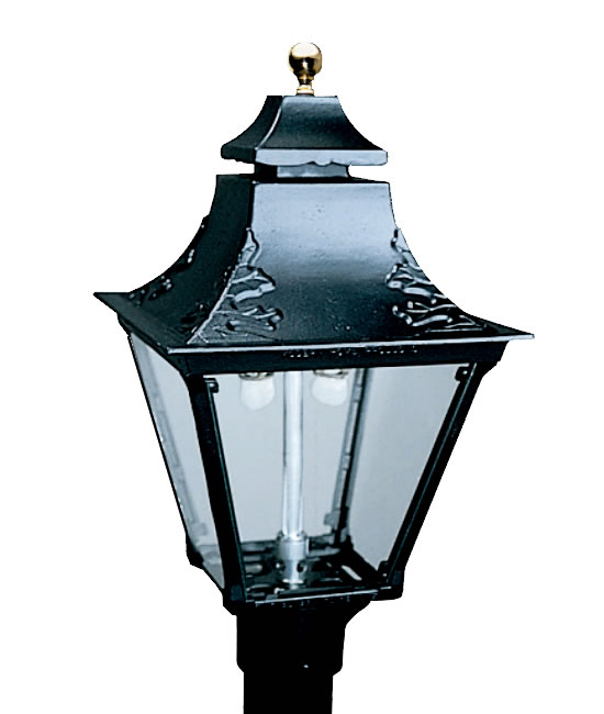 Everglow Cast Aluminum Swag Top 4 Sided Gas Light Head