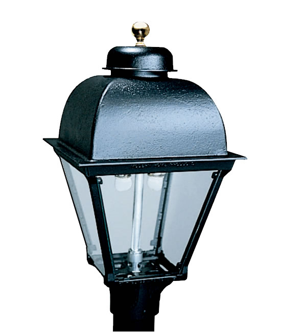 Everglow Modern Cast Aluminum 4 Sided Gas Light Head