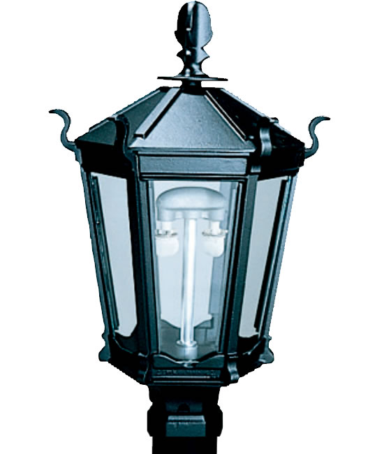 Everglow Gothic Style 6 Sided Cast Aluminum Gas Light Head