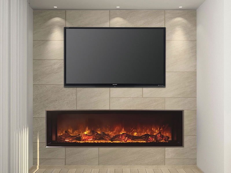Modern flames 60 inch landscape fullview electric for Modern gas fireplace price
