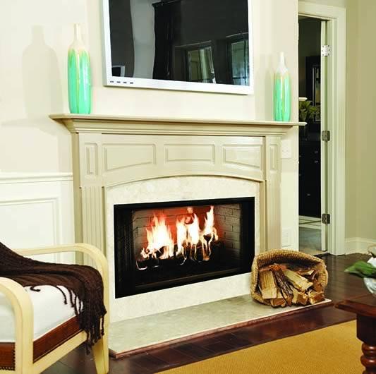 Majestic 42 Inch Wood Burning Fireplace   Fine's Gas