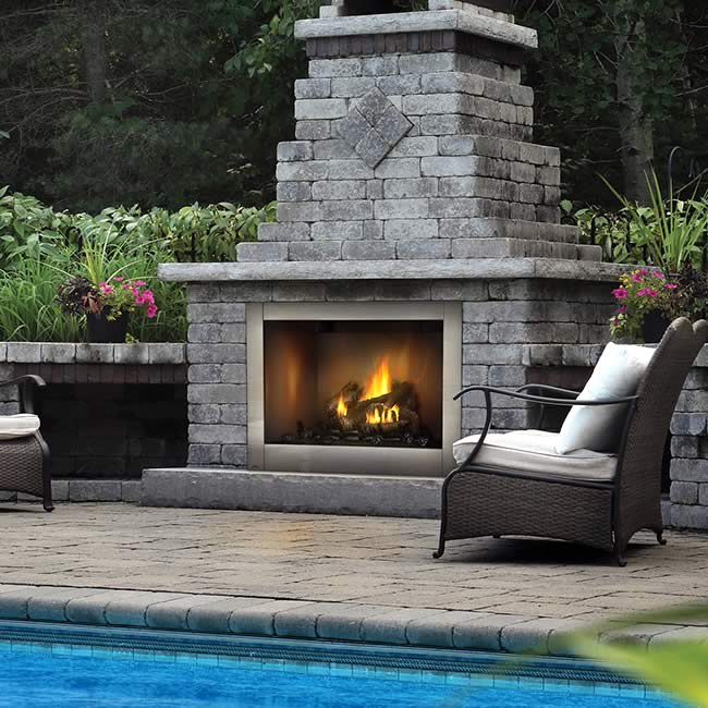 Napoleon 42 Outdoor Clean Face Gas Fireplace Fine S Gas