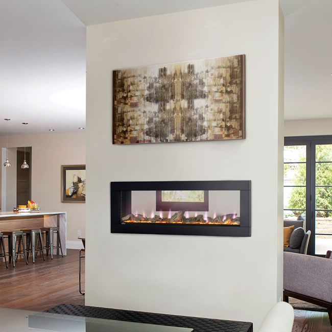 Napoleon Clearion Linear See Through Electric Fireplace
