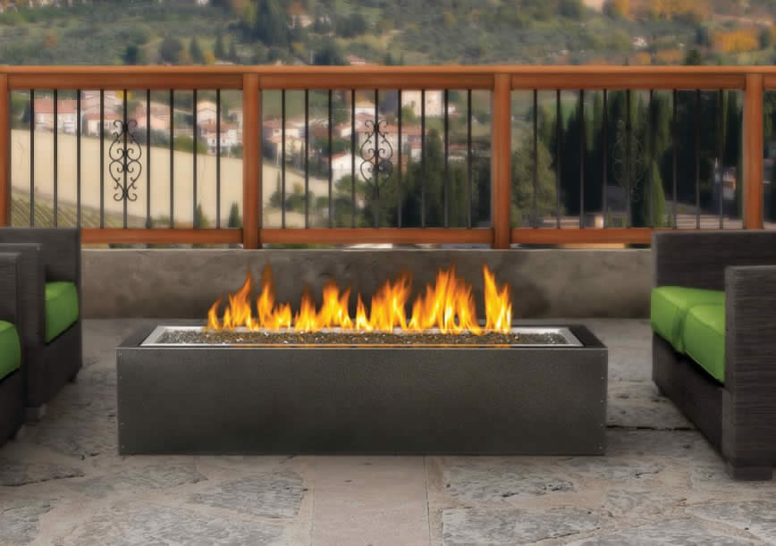 PatioFlame Outdoor Linear Gas Fire Pit ... - PatioFlame Linear Fire Pit, Gas Outdoor Fire Pit Fine's Gas