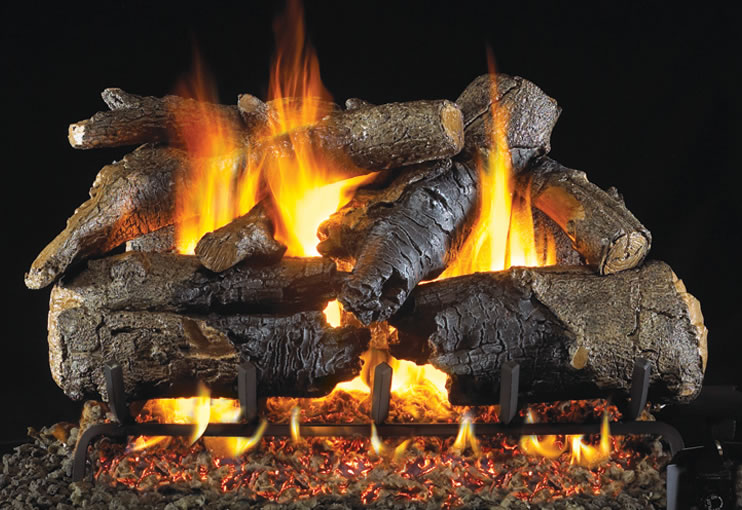 Rh Peterson 30 Inch Charred American Oak Vented Log Set
