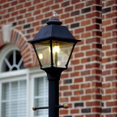 Outdoor gas lighting fines gas post mount gas lights aloadofball Gallery