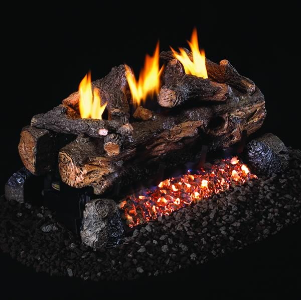 Rh Peterson Evening Fyre Split Ventless See Thru Gas Logs