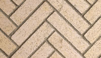 Ivory Split Herringbone Fire Brick