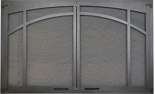 Screen Doors With Textured Iron Finish