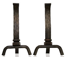 White Mountain Forged Andirons