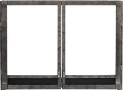 White Mountain Forged Iron Fireplace Door