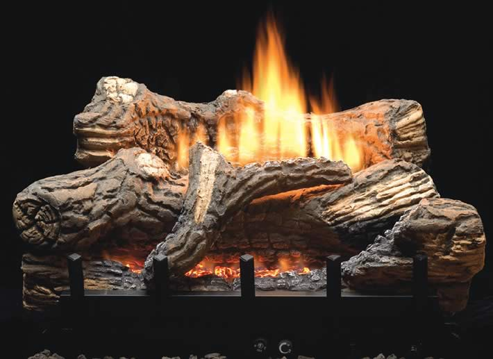 Empire Flint Hill 30 Inch Vent Free Gas Log Set Fines Gas