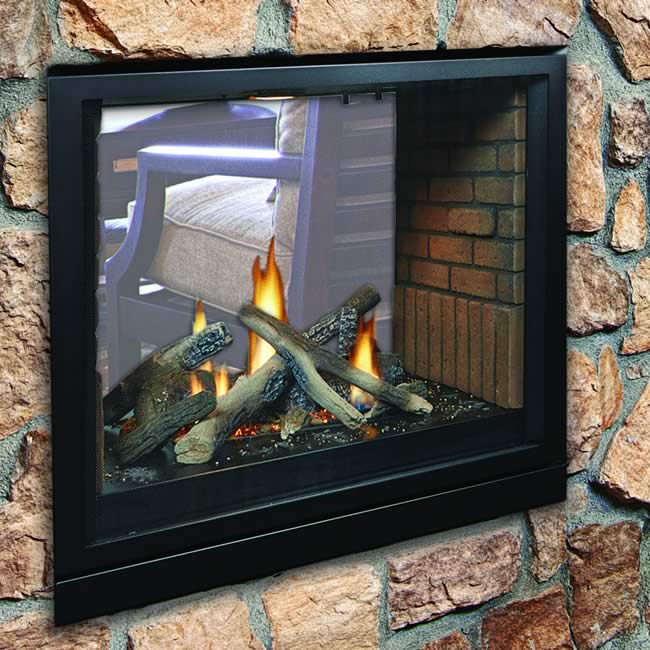 Tahoe Premium See Through Clean Face Direct Vent Fireplace
